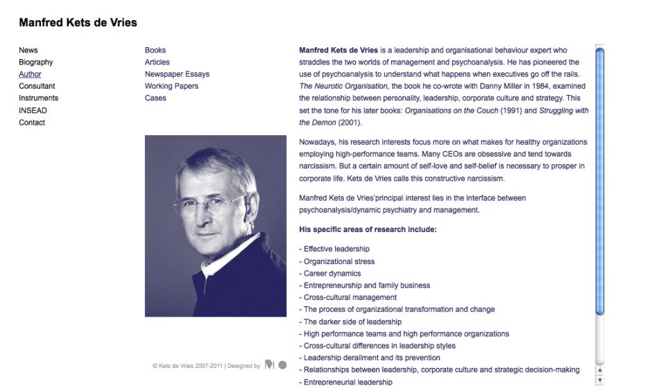 Manfred Kets de Vries - Author