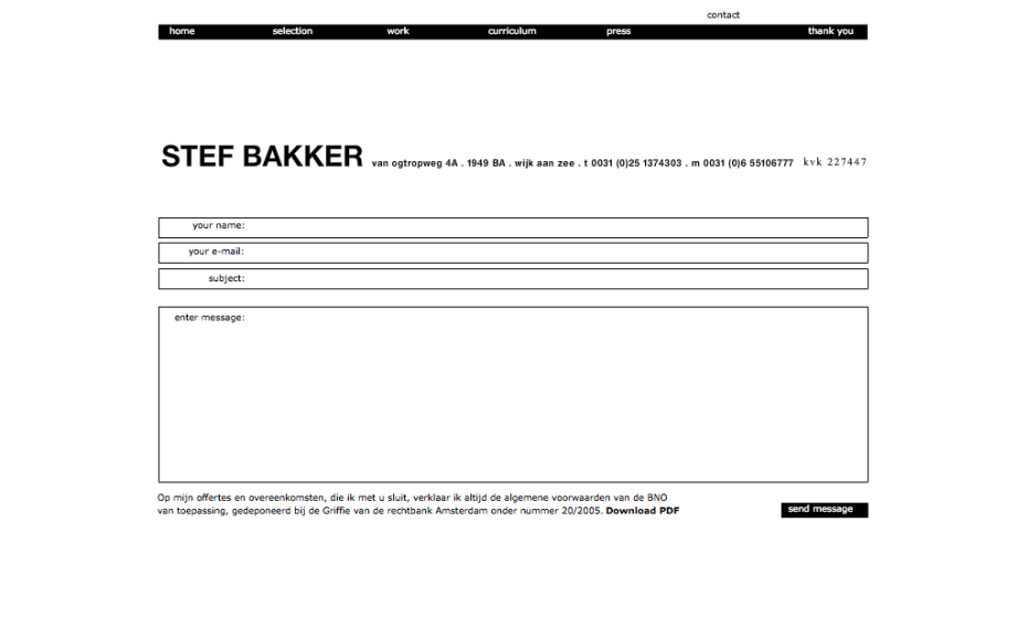 Stef Bakker - Contact