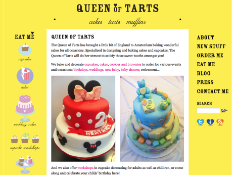 Queen of Tarts - Homepage
