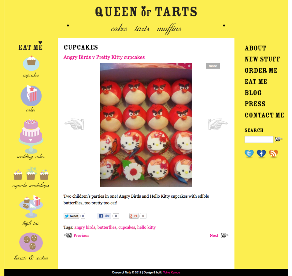 Queen of Tarts - Angry Bird Cupcakes