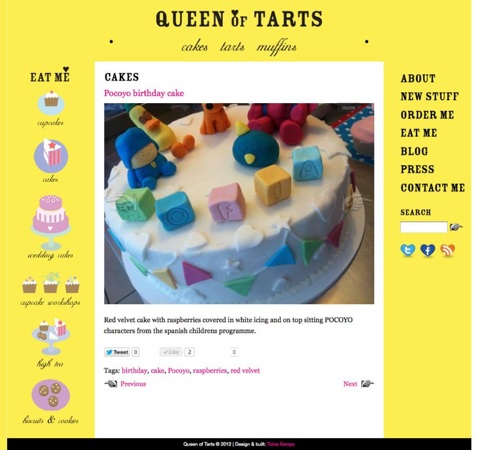 Queen of Tarts - Pocoyo Cake