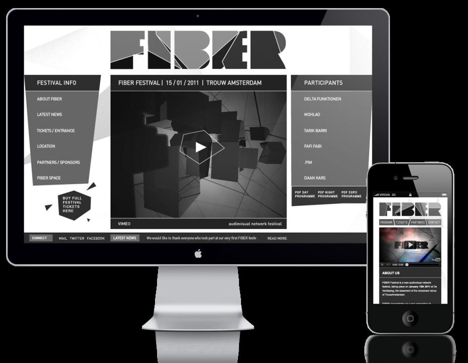 FIBER Festival 2012 - Homepage Desktop/Mobile