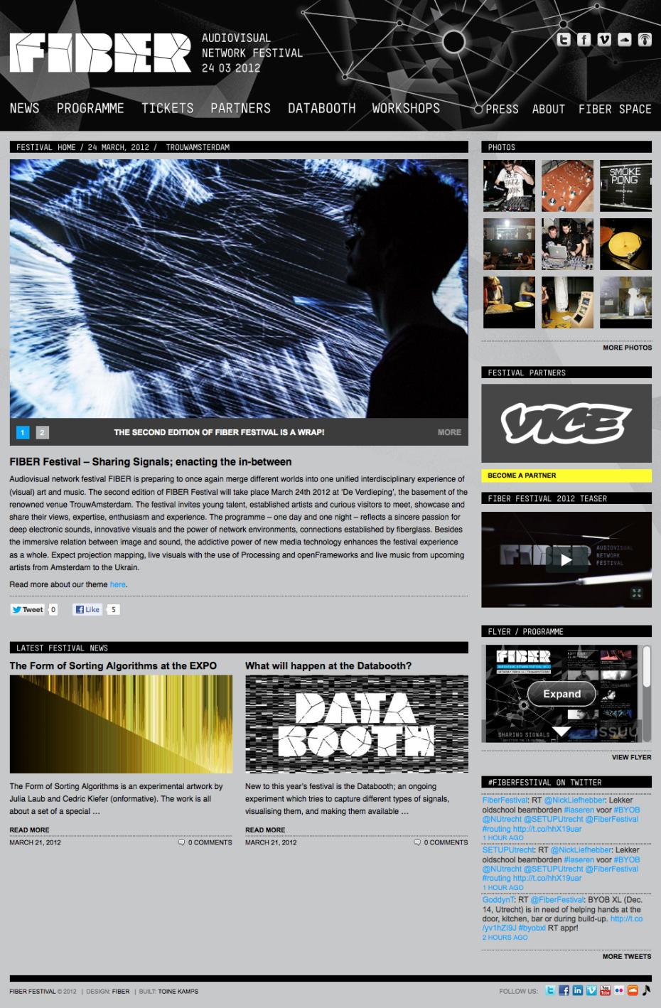 FIBER Festival 2012 - Homepage