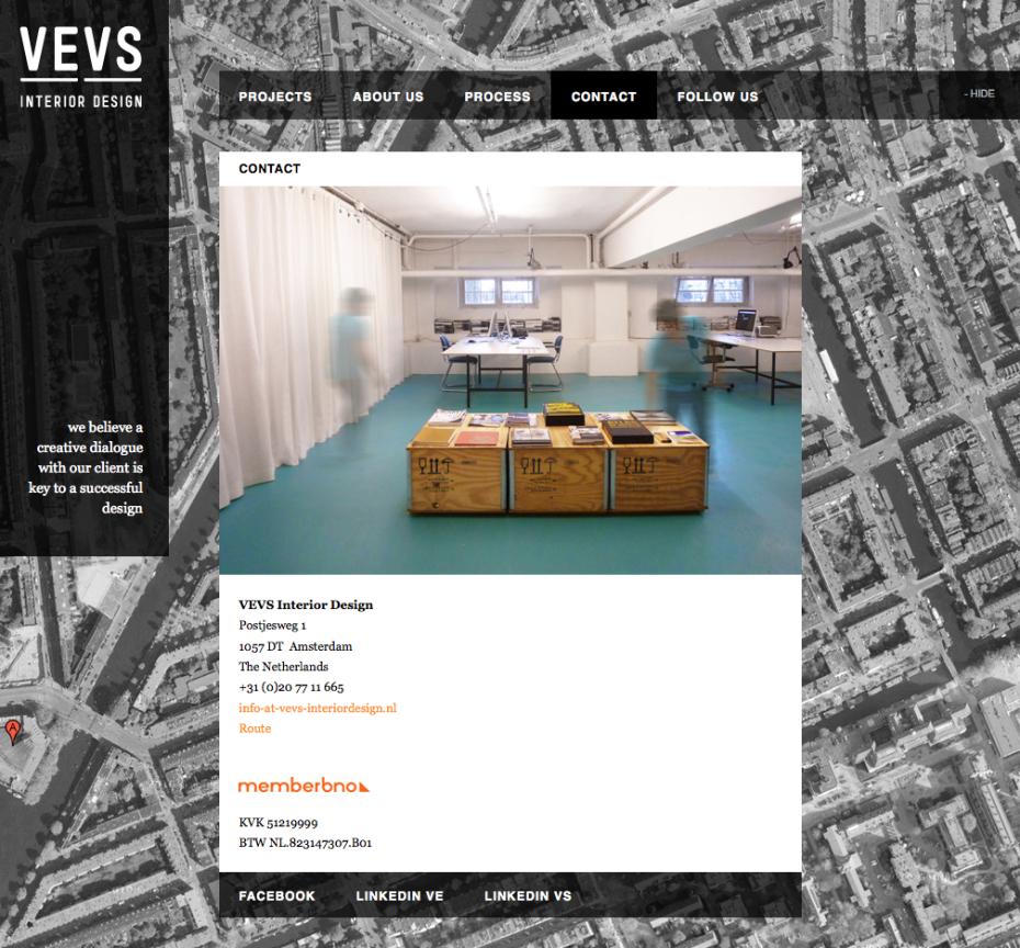 VEVS Interior Design - Contact