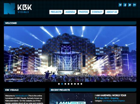 KBK Visuals - Homepage