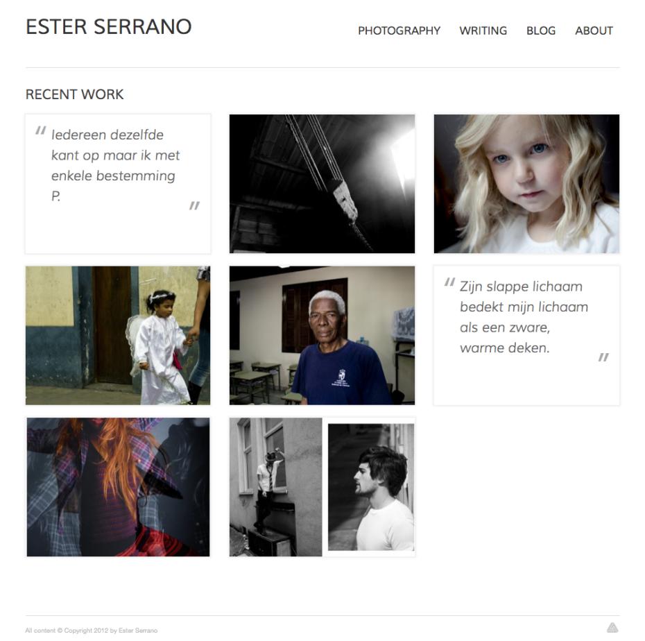 Ester Serrano - Homepage