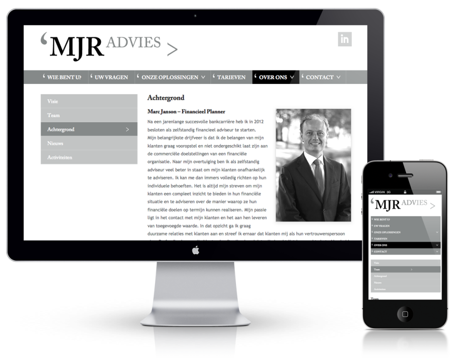 MJR-Advies - Desktop/iPhone