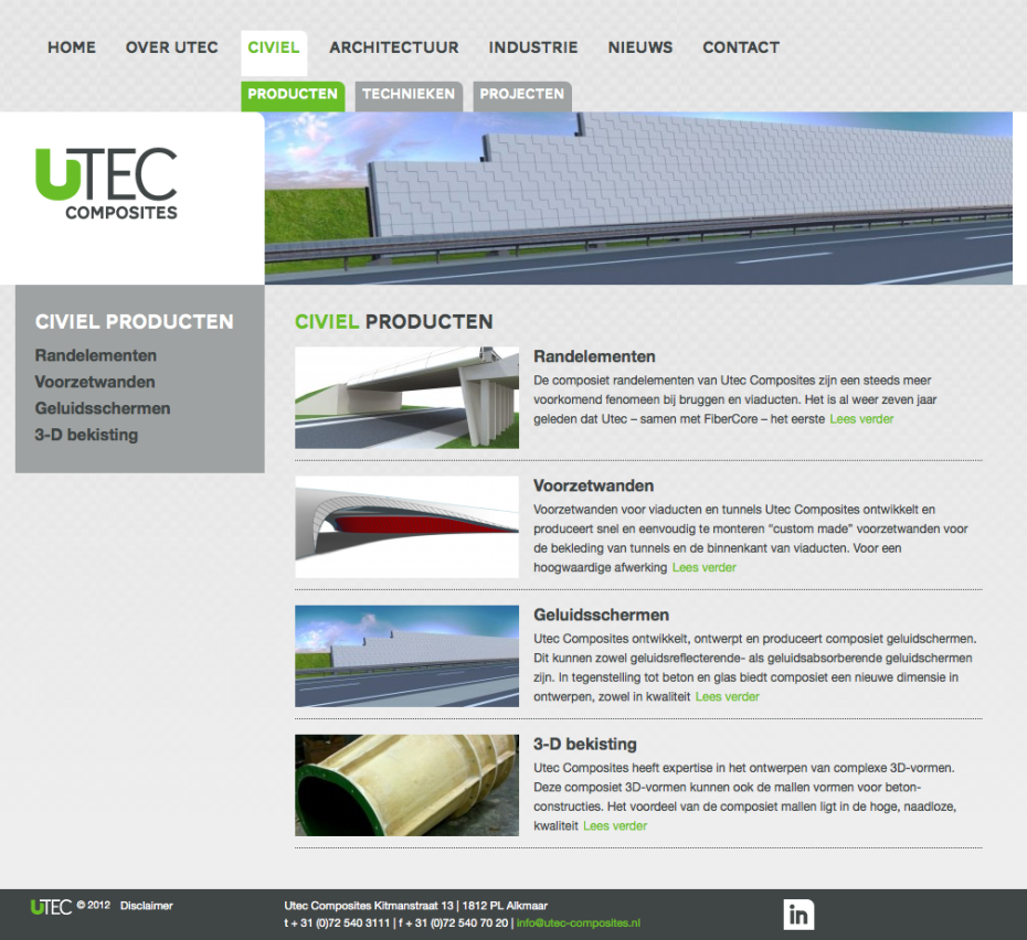 Utec Composites - Civiel - Producten