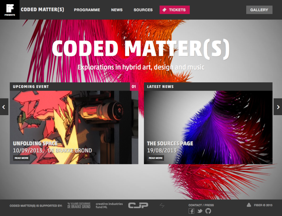 Coded Matter(s) - Home CM#1