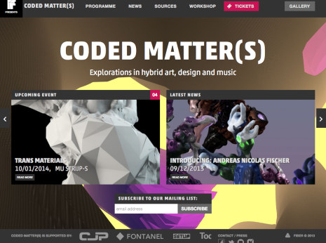 Coded Matter(s) - Home CM#2
