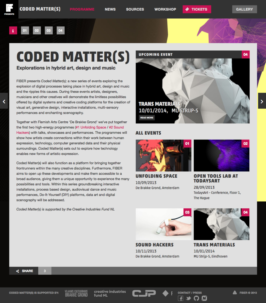 Coded Matter(s) - Programme