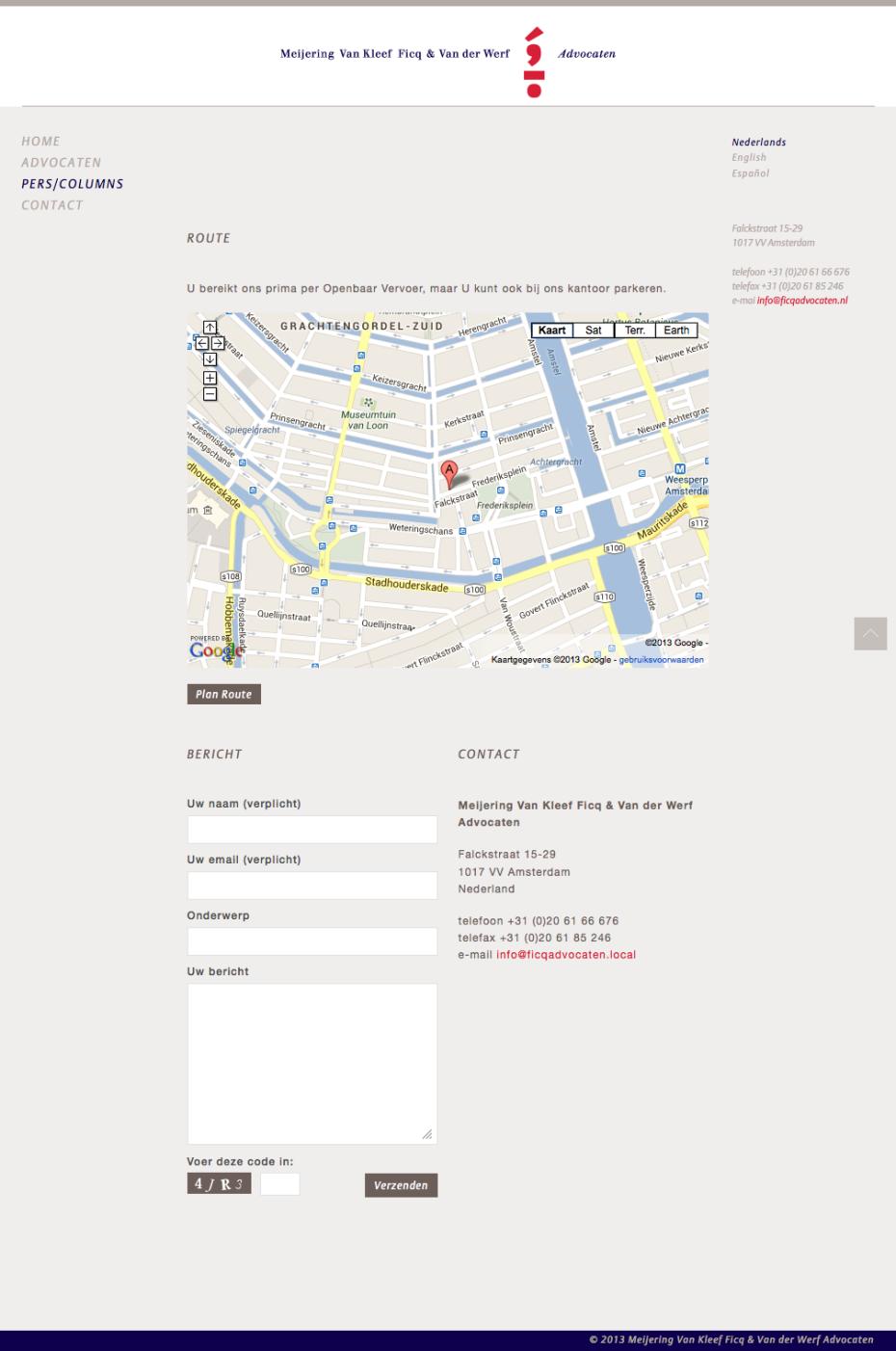 Ficq Advocaten - Contact