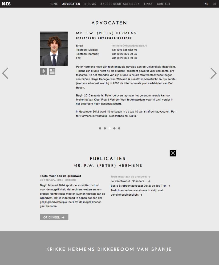 KHDS Advocaten - Advocaat: Peter Hermens