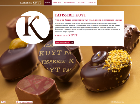 Patisserie Kuyt Homepage