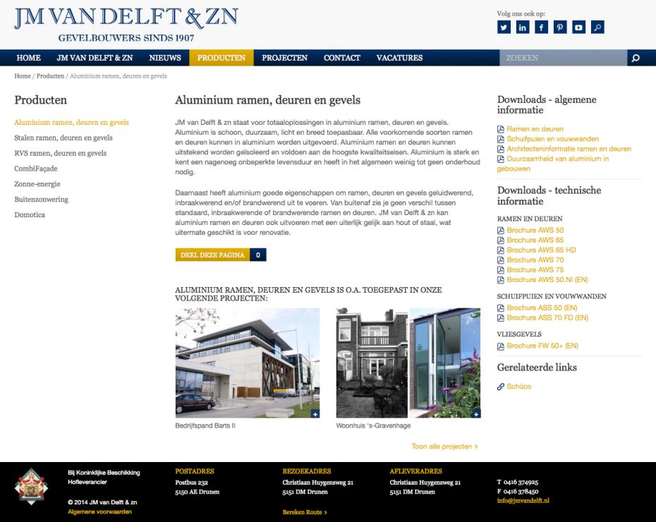 JM van Delft - Product: Aluminium Ramen