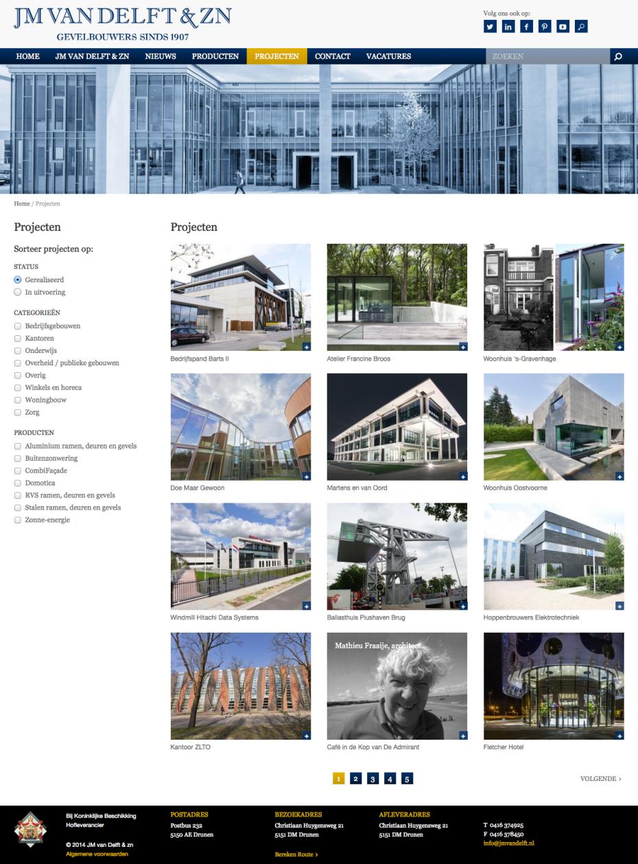 JM van Delft - Projecten