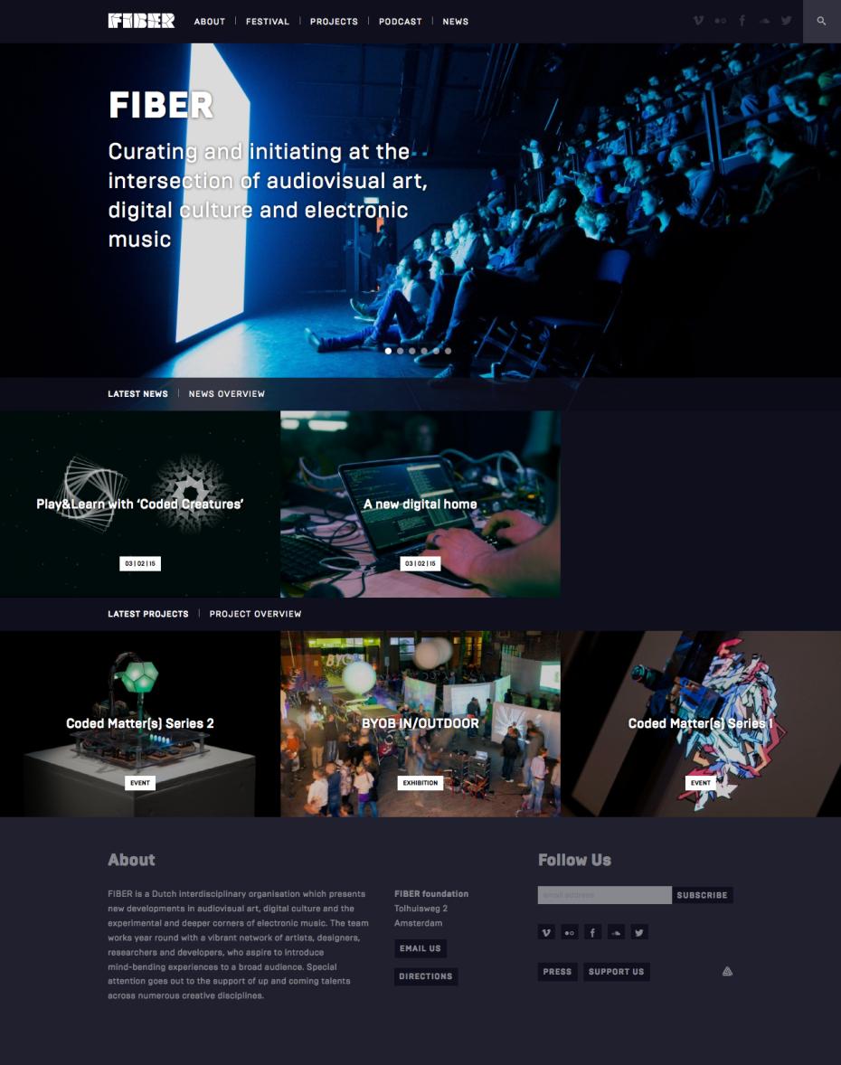 FIBER Space Homepage