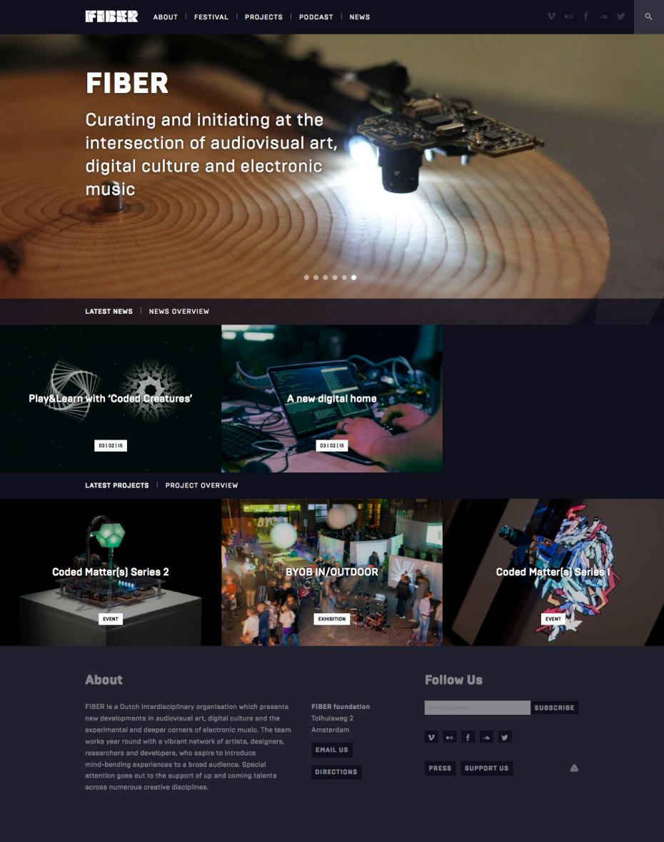 FIBER Homepage
