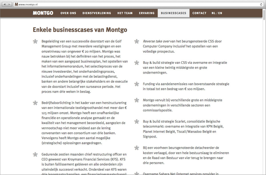Montgo Businesscases