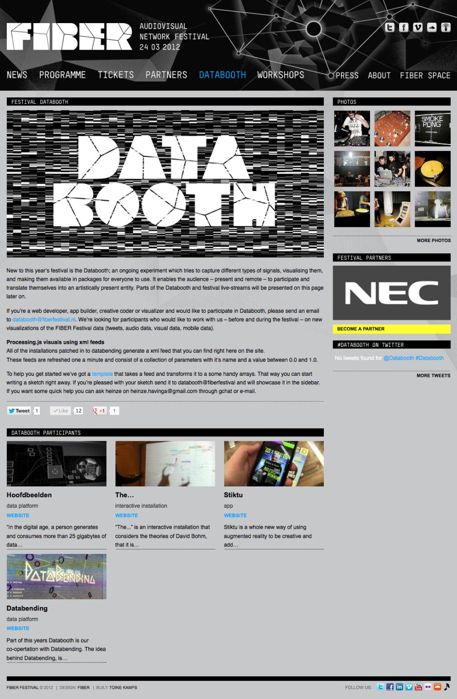 FIBER Festival 2012 - Databooth