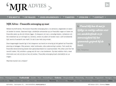 MJR Advies - Homepage Thumb