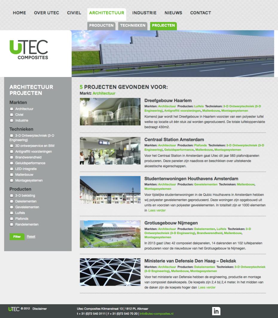 Utec Composites - Architectuur - Projecten