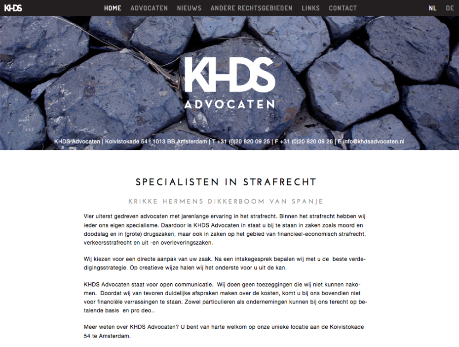 KHDS Advocaten - Homepage