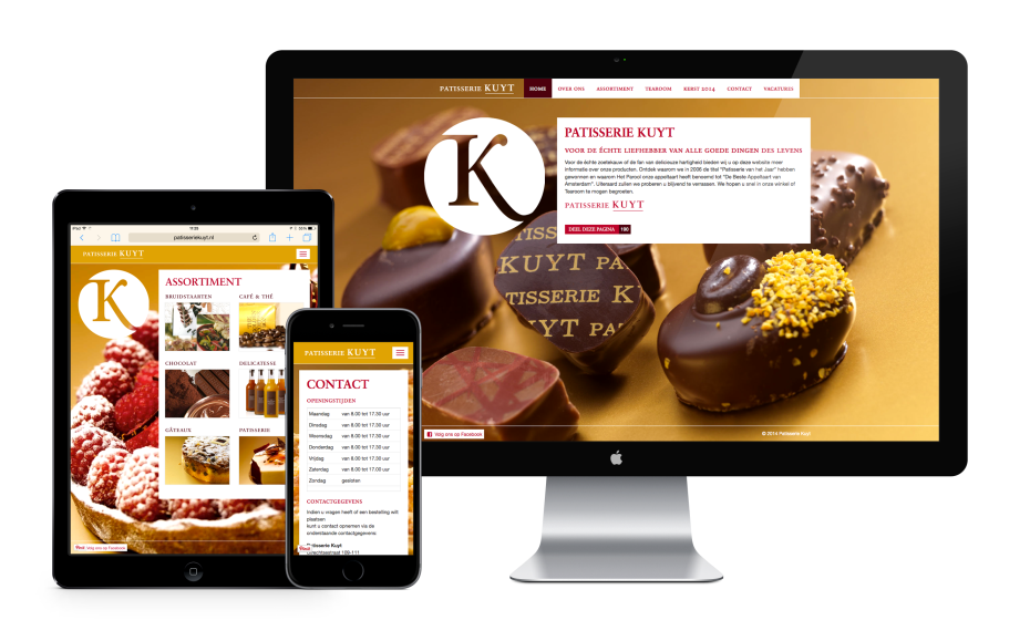 Patisserie Kuyt Responsive Layout
