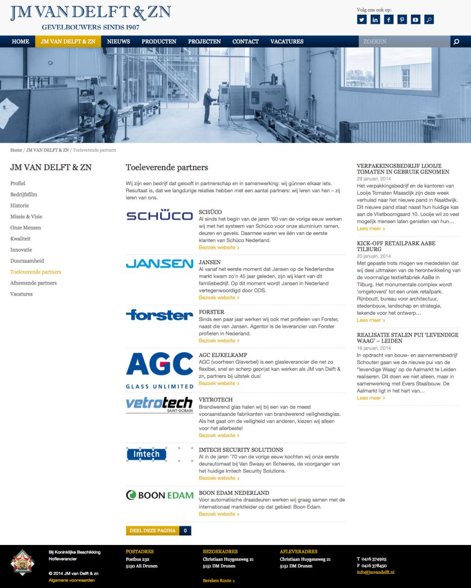 JM van Delft - Toeleverende Partners