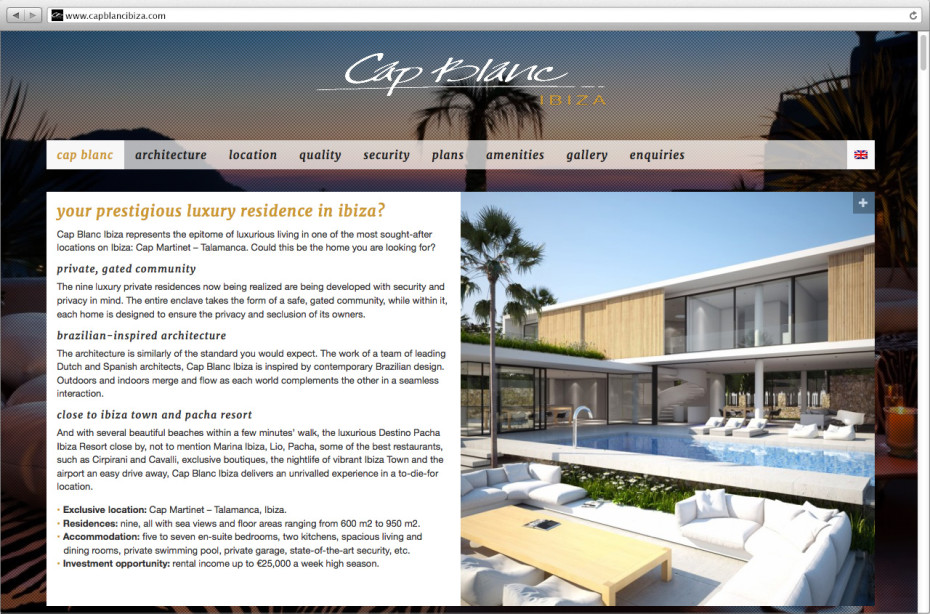 Cap Blanc Ibiza - Homepage