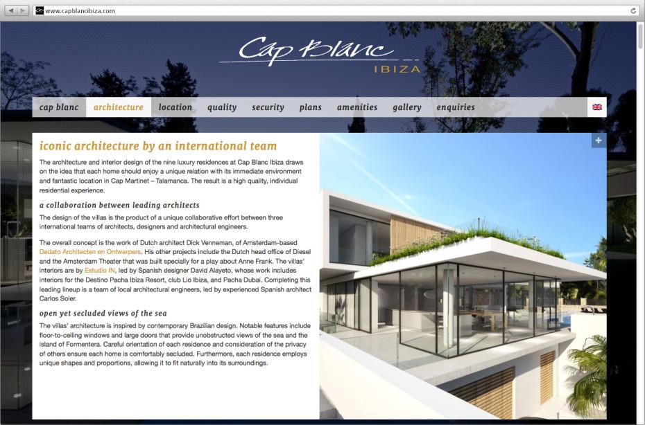 Cap Blanc Ibiza - Architecture