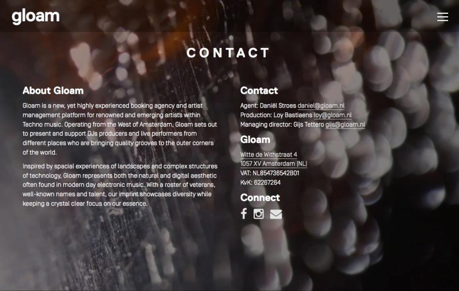 Gloam Contact